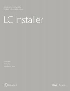 LC Installer App Manual