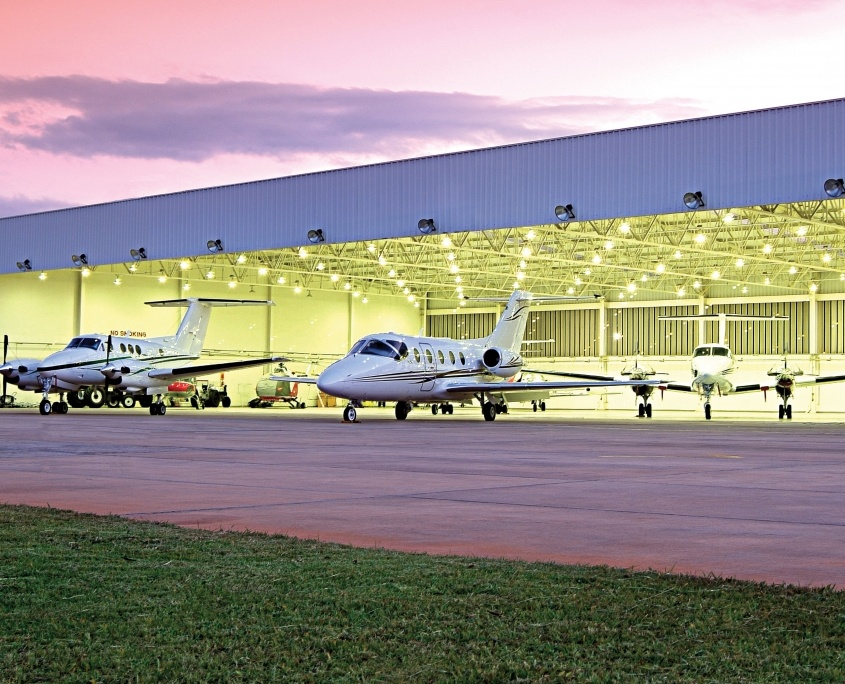 Airplane Hangar Exterior
