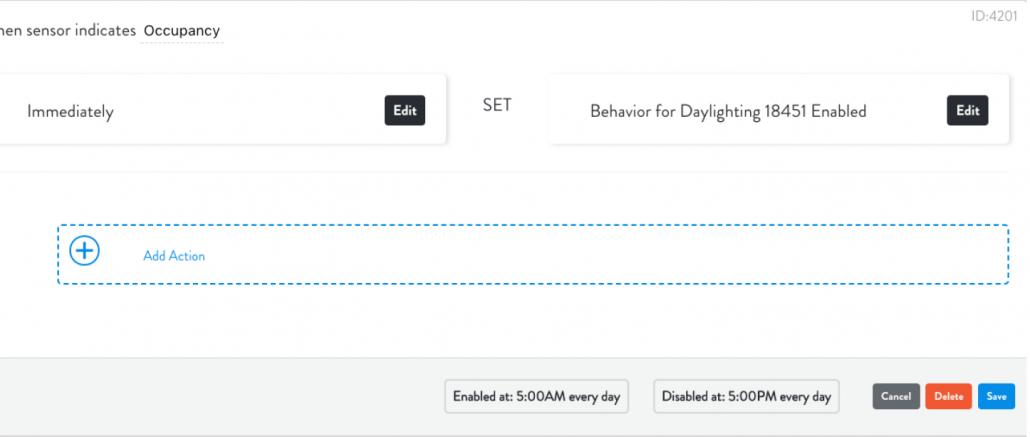 Lightcloud Daylight Device Settings
