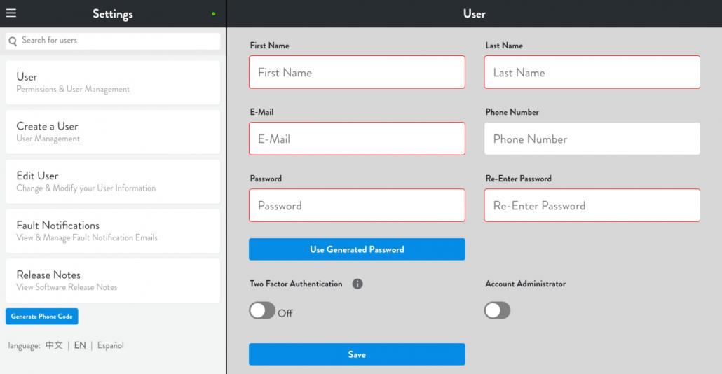 Lightcloud User Management