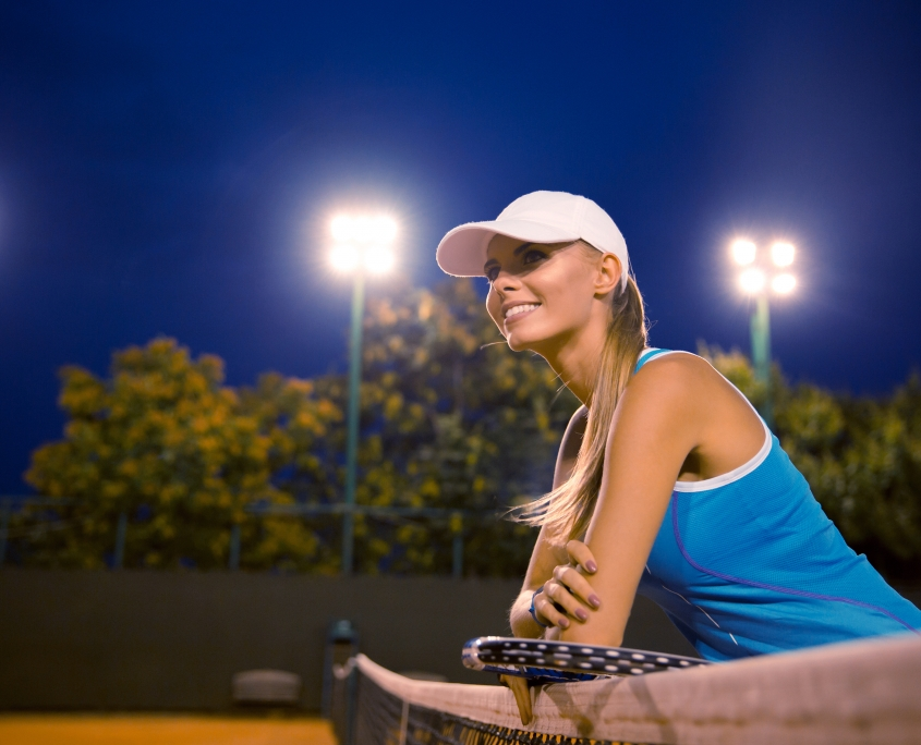 Happy Tennis Player