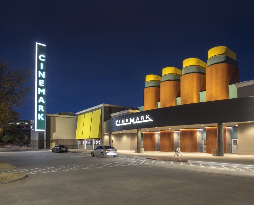 Exterior Lighting Parking Lot Cinema